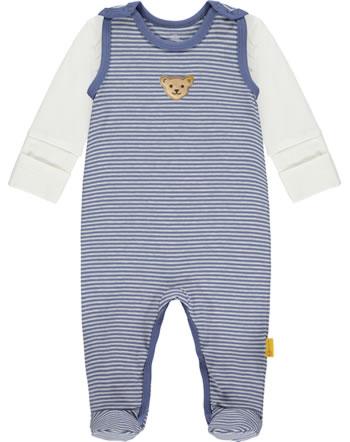Steiff Set Strampler und Shirt LETS PLAY Baby Boys bijou blue 2121321-6066