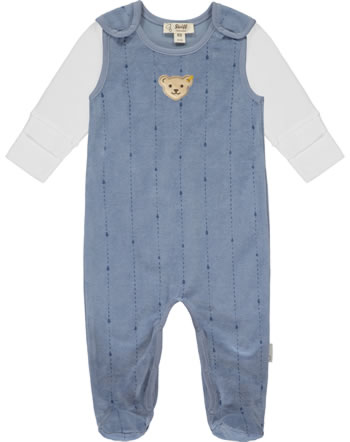 Steiff Romper and shirt RAINDROPS velour stonewash 2022508-6059 GOTS