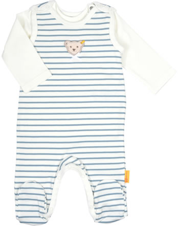 Steiff Set Strampler und Shirt SWEET HEART Baby Girls adriatic blue 2121435-6045