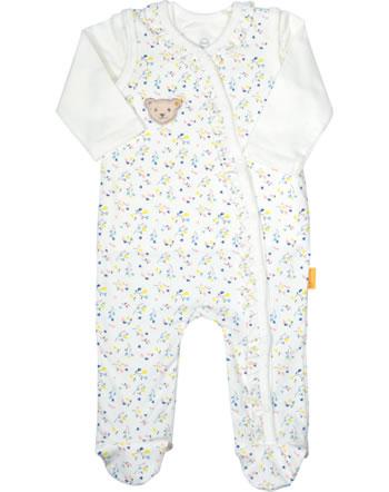 Steiff Set Strampler und Shirt SWEET HEART Baby Girls cloud dancer 2121419-1001
