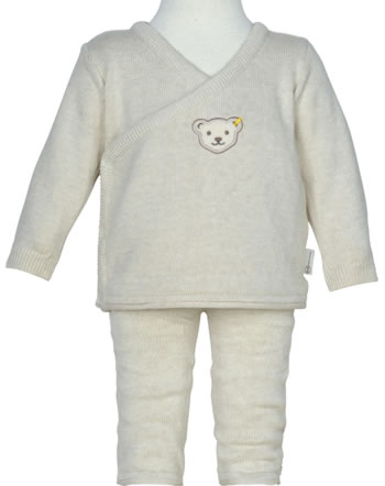 Steiff Cardigan and trousers BEAR HUGS sandshell 2022622-1005 GOTS