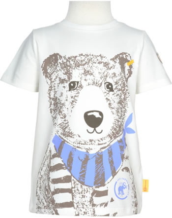Steiff Shirt Kurzarm 140 JAHRE STEIFF cloud dancer 2015103-1001