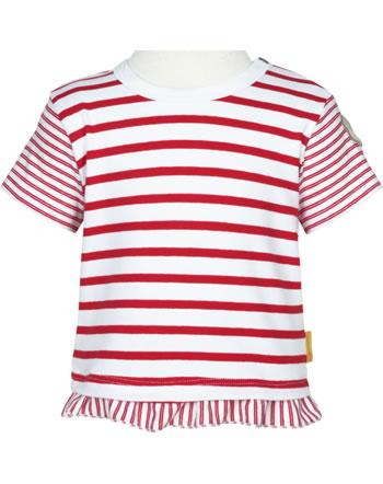 Steiff Shirt Kurzarm AHOI BABY STREIFEN tango red 2012239-4008