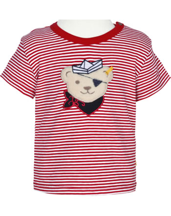 Steiff Shirt Kurzarm BEAR CREW STREIFEN tango red 2012140-4008