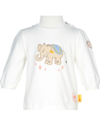 Steiff Shirt Langarm 140 JAHRE STEIFF cloud dancer 2015105-1001