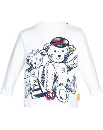 Steiff Shirt Langarm BEAR CREW bright white 2012139-1000