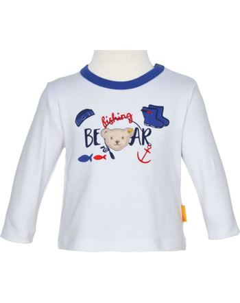 Steiff Shirt Langarm FISH AND SHIP Baby Boys bright white 2112337-1000