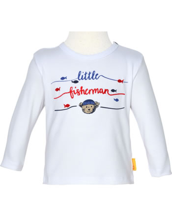 Steiff Shirt Langarm FISH AND SHIP Baby Boys bright white 2112346-1000