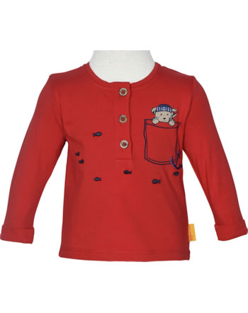 Steiff Shirt Langarm FISH AND SHIP Baby Boys true red 2112335-4015