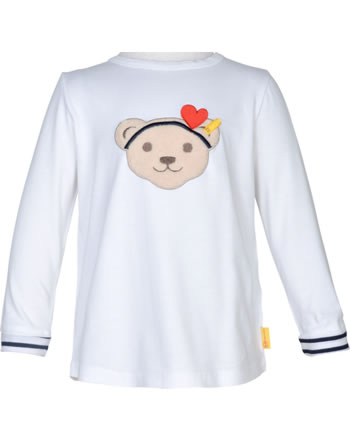 Steiff Shirt Langarm MARINE AIR Mini Girls bright white 2112225-1000