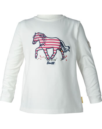 Steiff Shirt manches longue PONYFUL Mini Girls cloud dancer 2022213-1001