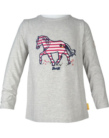 Steiff Shirt manches longue PONYFUL Mini Girls soft grey melange 2022213-9007