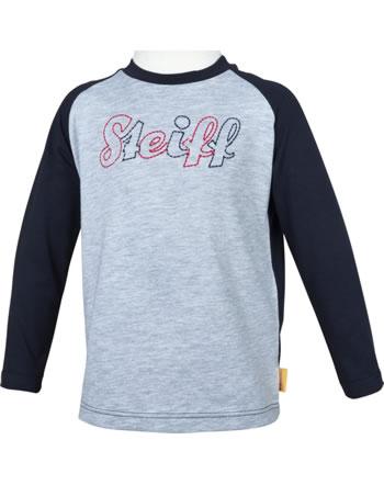 Steiff Shirt Langarm SEA BEAR soft grey melange 2012415-9007
