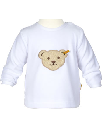 Steiff Shirt Langarm Velour BASIC bright white 0021217-1000