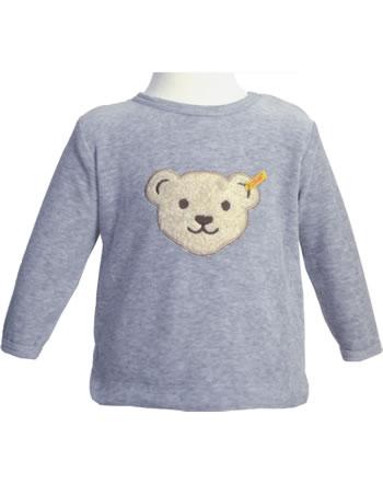 Steiff Shirt Langarm Velour BASIC soft grey melange 0021217-9007
