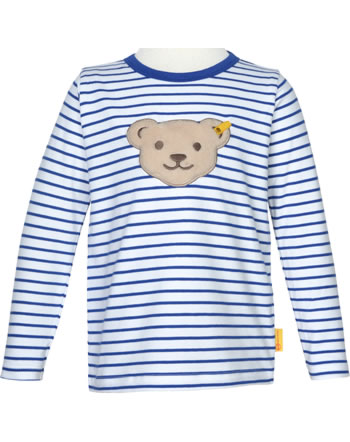Steiff Shirt Quietsche Langarm FISH AND SHIP Mini Boys bright white 2112132-1000