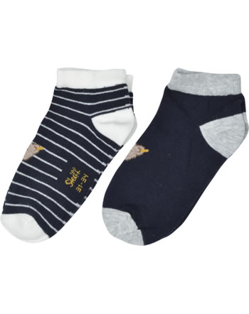 SteiffSneaker Socks 2 pieces GOTS steiff navy 2111702-3032