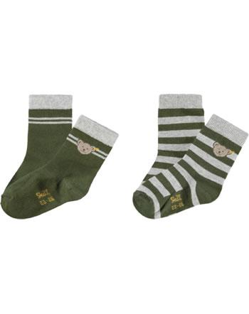 Steiff Socks 2 pieces dusty olive 2121915-5020
