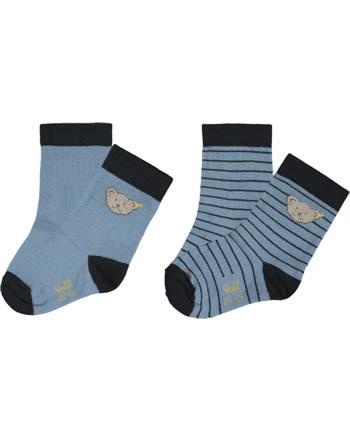 Steiff Socks 2 pieces GOTS coronet blue 2021702-6048