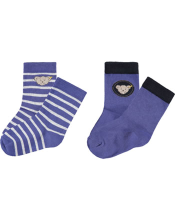 Steiff Socks 2 pieces GOTSdeep ultramarine 2111715-6063