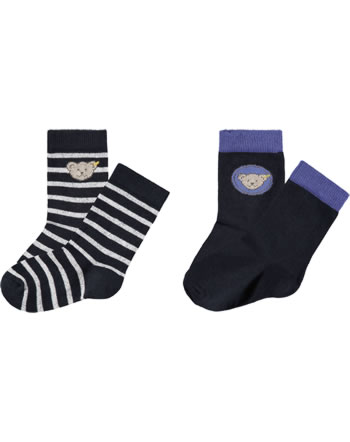 Steiff Socks 2 pieces GOTSdeep steiff navy 2111715-3032