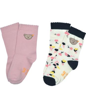 Steiff Socken 2er Pack pink nectar 2121913-3035