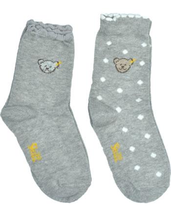 Steiff 2 pair of baby socks Teddy TEDDY quarry 2011913-9007