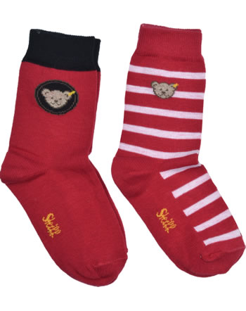 Steiff 2 pair of baby socks Teddy TEDDY tango red 2011915-4008