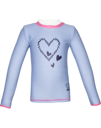 Steiff Shirt with sun protection NAVY HEARTS GIRL forever blue 2014610-6027