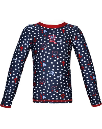 Steiff Shirt with sun protection NAVY HEARTS GIRL steiff navy 2014613-3032