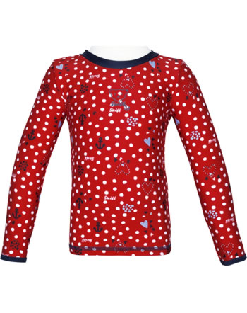 Steiff Shirt with sun protection NAVY HEARTS GIRL tango red 2014613-4008