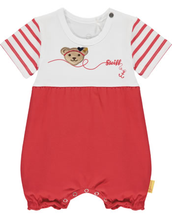 Steiff Romper short sleeve MARINE AIR true red 2112412-4015