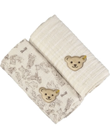 Steiff Diapers set of 2 BEAR HUGS sandshell 2022627-1005 GOTS