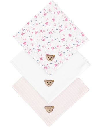 Steiff Diapers set of 3 BEAR IN MY HEART barely pink 2011122-2560