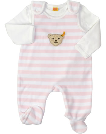 Steiff Romper suit with shirt BASIC barely pink 2tlg. 0002855-2560