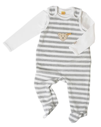 Steiff Romper suit with shirt BASIC softgrey 0002855-8200