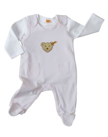 Steiff Romper suit with shirt BASIC barely pink 0006605-2560