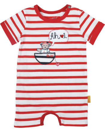Steiff Romper short sleeve MARINE AIR Baby Girls true red 2112432-4015