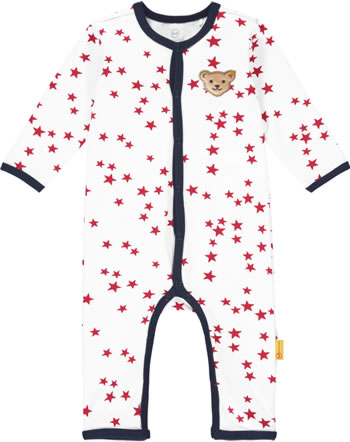 Steiff Romper BEAR TO SCHOOL bright white 2021423-1000