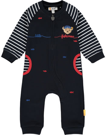 Steiff Romper FISH AND SHIP Baby Boys steiff navy 2112327-3032