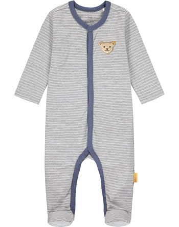 Steiff Romper HIGH FIVE Baby Boys soft grey melange 2111323-9007