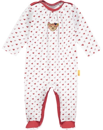 Steiff Romper MARINE AIR Baby Girls true red 2112430-4015