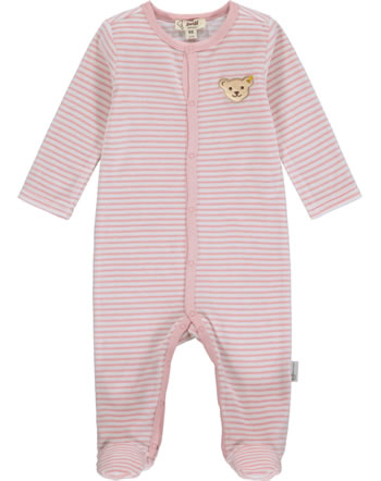 Steiff Strampler Velour BABY ORGANIC JUST DOTS silver pink 2122502-3015