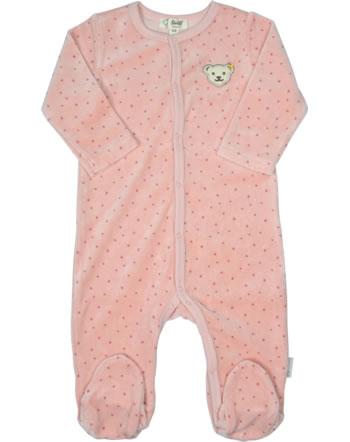 Steiff Strampler Velour BABY ORGANIC JUST DOTS silver pink 2122505-3015