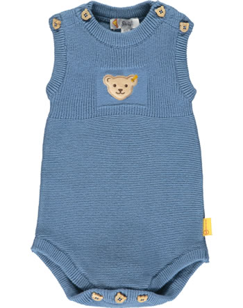 Steiff Strick-Body ärmellos BABY GOTS UNISEX coronet blue 2112528-6048