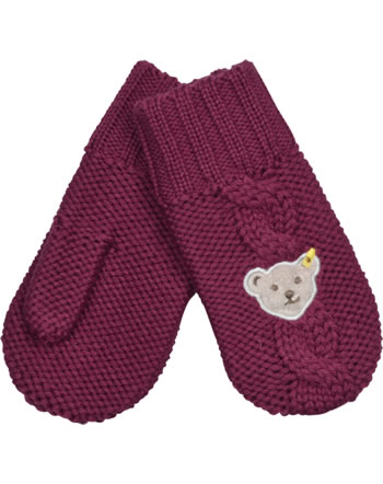 Steiff Knitted Gloves BLUEBERRY HILL beet red 1622626-4010