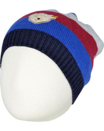 Steiff Strick-Mütze CLASSIC BLUE stripe 6843620-0001