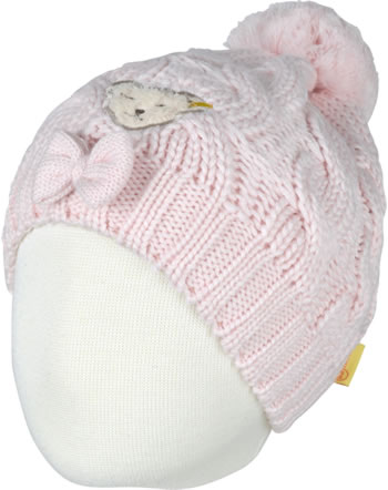 Steiff Strick-Mütze m. Bommel FAIRYTALE Mini Girls barely pink 2023214-2560