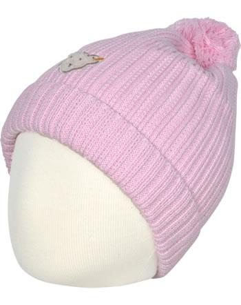 Steiff Strick-Mütze mit Bommel SWEET HEART Mini Girls pink nectar 2121230-3035