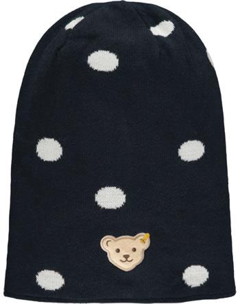 Steiff Knitted reversible hat FLYING AWAY Mini Girls cloud dancer 2122214-1001